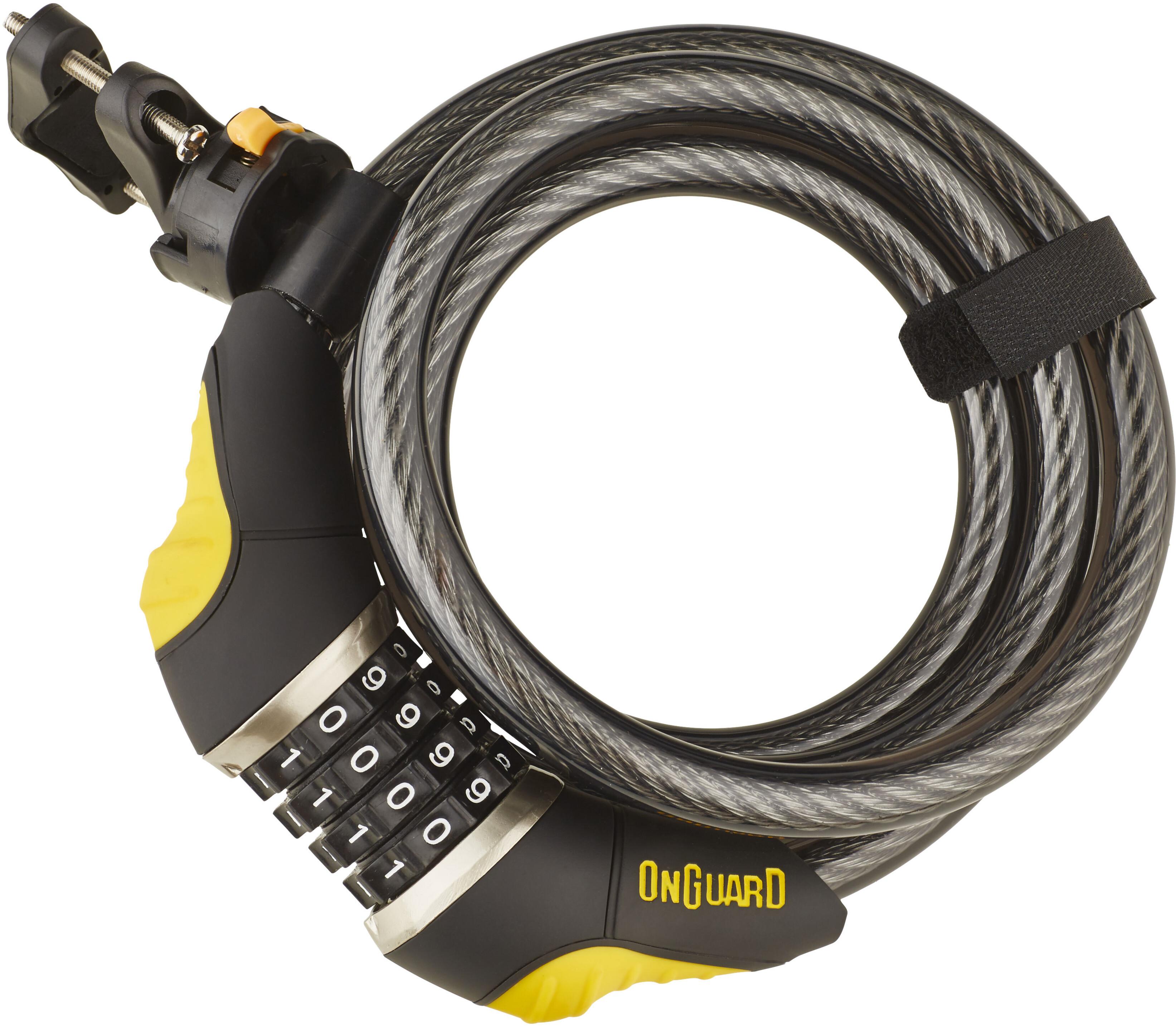 Onguard Dobermann Combo 8031 Spiral Cable Lock 185 Cm 216 12